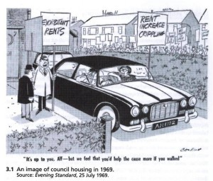 Jaguar-owning council tenants: the spectre of the limpet tenant returns (Evening Standard July 25 1969 reprinted in Forrest 2010)