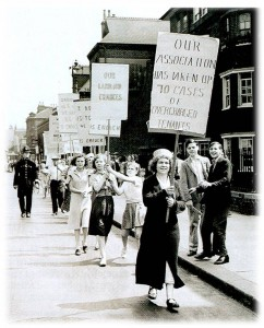 The Tenants' Movement: a tradition of protests and rentstrikes (pictured here a 1930s rent strike in London's east end)